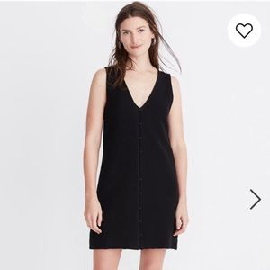 Madewell Texture & Thread Button Front Tank Dress